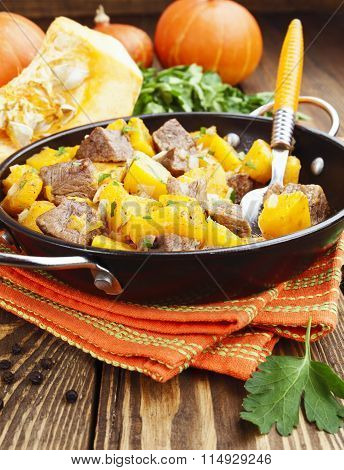 Beef Stew With Pumpkin