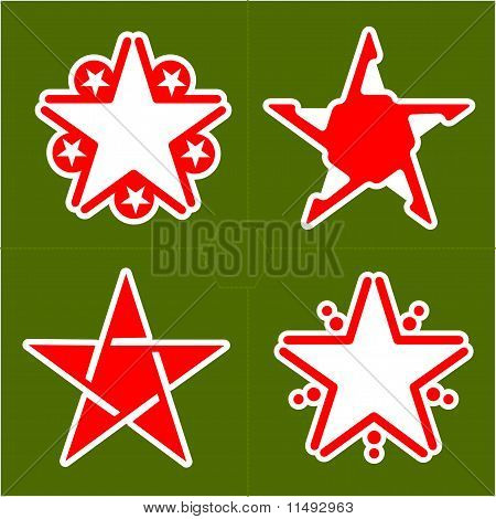 Set Of Abstract Design Element Star, Illustration
