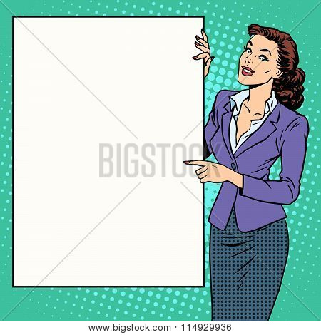 Poster businesswoman style your brand here