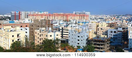 Hyderabad, INDIA - November 29 : Hyderabad is the fourth most populous city and sixth most populous urban agglomeration in India, on November 29,2015 Hyderabad, India