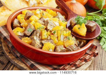 Stew Beef With Pumpkin