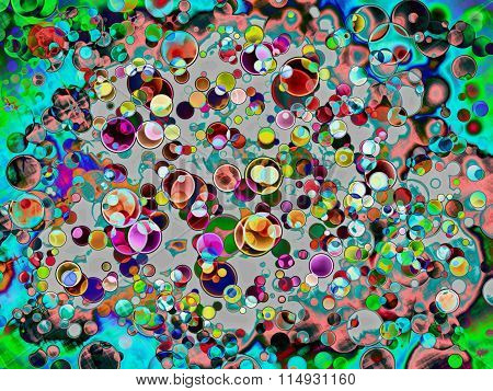 Abstract Multicolored Funny Spotty Background.