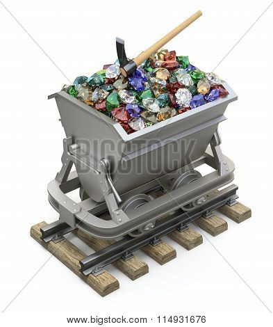 Gems and diamonds in the mining cart