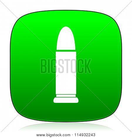 ammunition green icon