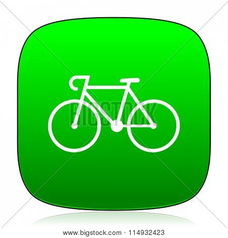 bicycle green icon