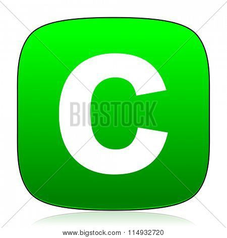 copyright green icon