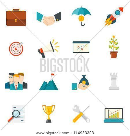 Entrepreneurship Flat Color Icons