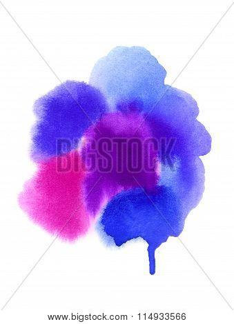 Bright Watercolor Blurred Spots For Design