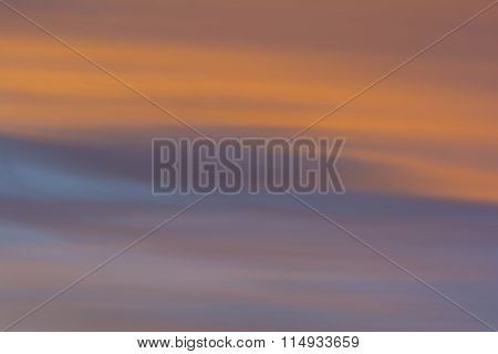 Background - Wispy Clouds At Sunset