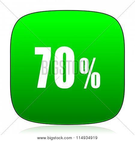70 percent green icon