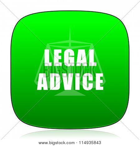 legal advice green icon
