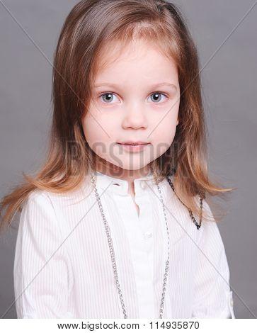 Smiling cute kid girl