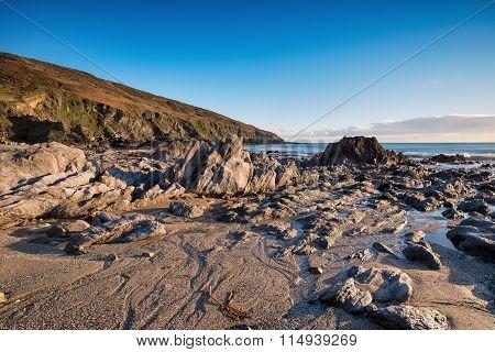 Low Tide On The Cornish Coast