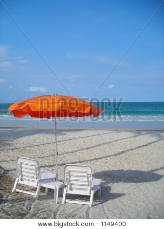 Two Chairs Facing Beach @ Bintan Indonesia