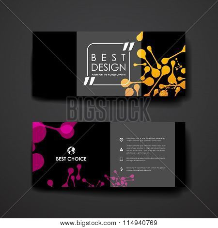 Set of modern design banner template in DNA molecule style