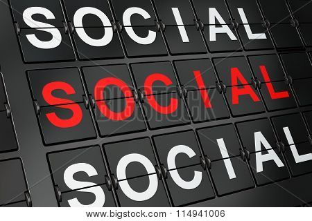 Political concept: Social Equality on airport board background