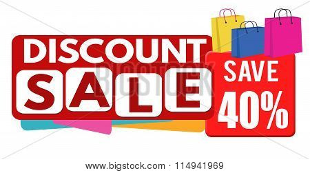 Discount Sale Banner Or Label