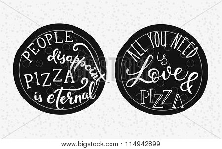 Quote Lettering On Pizza
