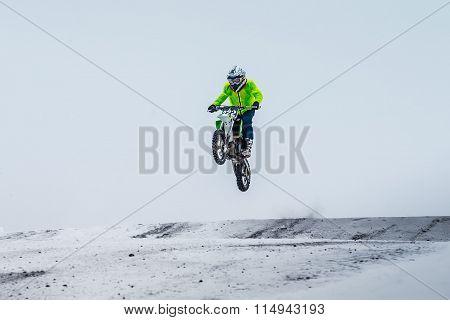 motorcycle racer winter race
