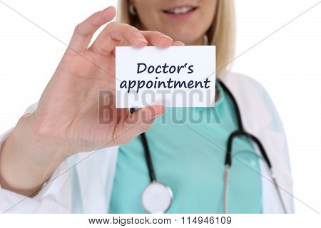 Doctor's Medical Appointment Doctor Nurse Medicine Ill Illness Healthy Health