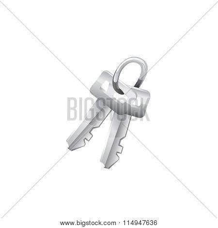 Keys. Vector icon