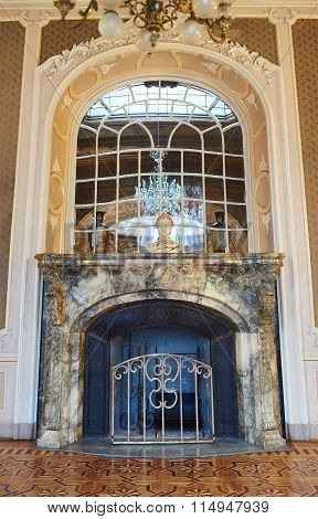 Vintage Marble Fireplace