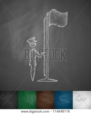 raising the flag icon