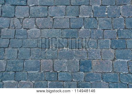 Background Of Sett. Cobblestone Pavement.
