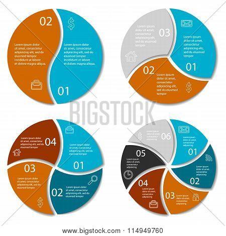 Set of round infographic