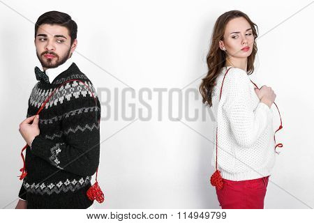 Happy Stylish Couple In Love