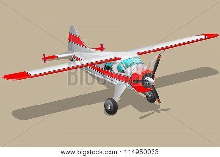 Retro airplane illustration