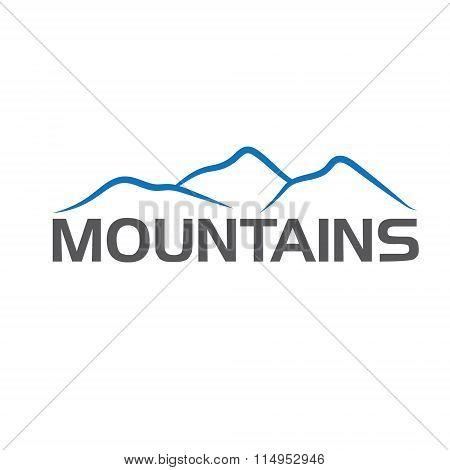 Mountains Abstract Illustration