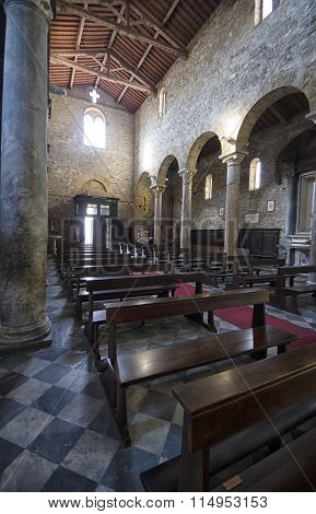 The Nave Of Church In Italy