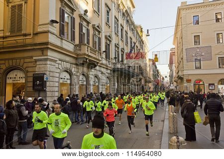 People Running The We Run Rome Competition