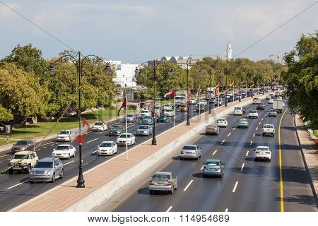 City Highway In Muscat, Oman
