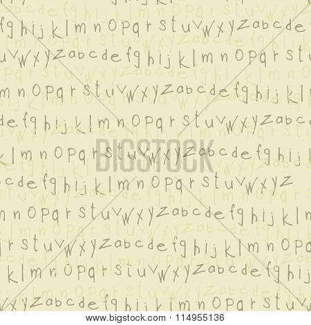 letters latin alphabet seamless pattern