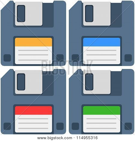 Computer Floppy Diskette Icon Pack