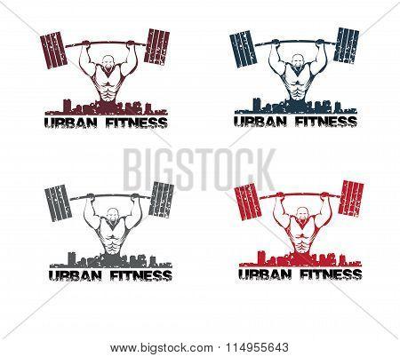 Grunge Illustration Urban Fitness