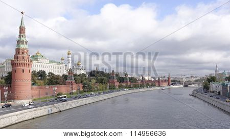 View Of The Kremlin From Moscow - The River