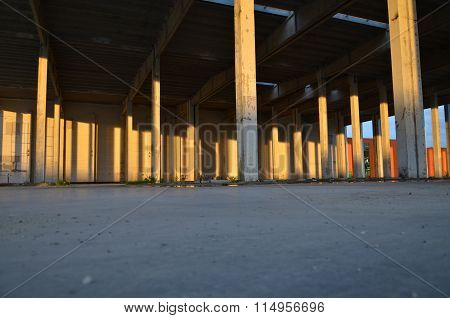 Empty Fabric Hall
