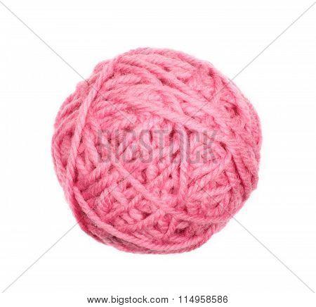 Pink Skein Over White
