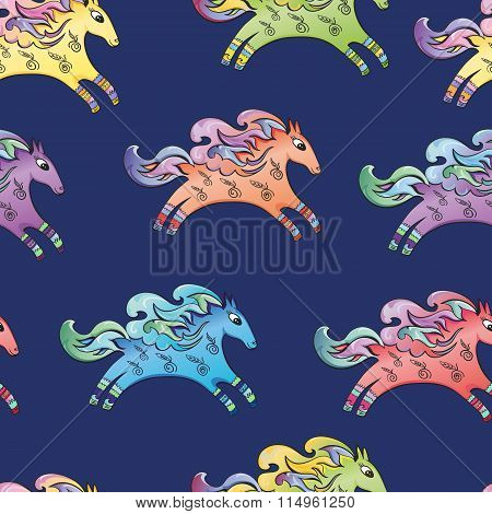 Blue Horse Pattern