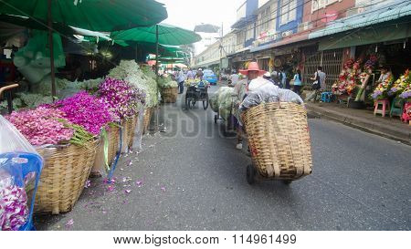 Flower Market in Thailand