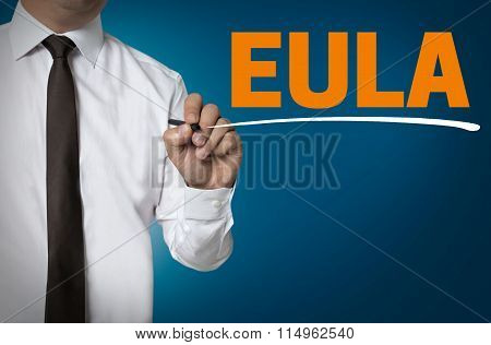 Eula Is Written By Businessman Background Concept