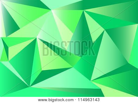 Low poly style vector, Green low poly design, low poly style illustration, Abstract low poly backgro
