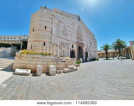 Basilica Of The Annunciation In Nazareth