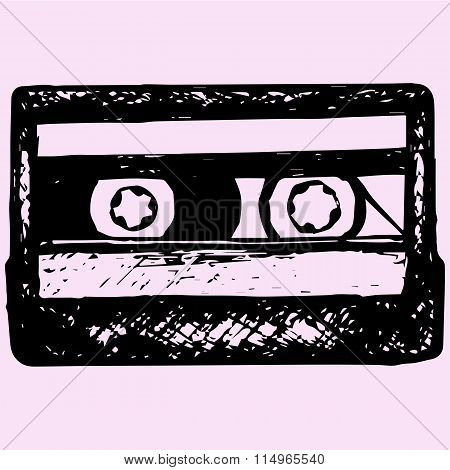 audio cassette, music cassette
