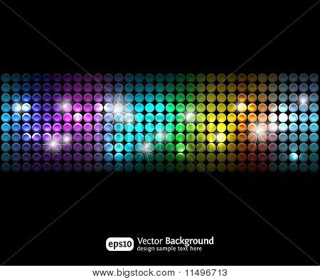 Black Party Abstract Background With Color Gradients