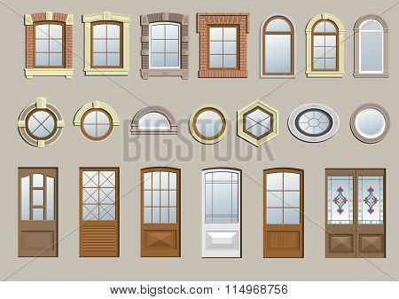 Set of classic windows