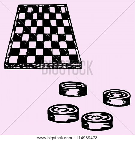 checkers and Checkers board